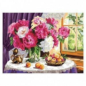 Набор ДТ Роспись по холсту Букет цветов 30*40см Х-0401