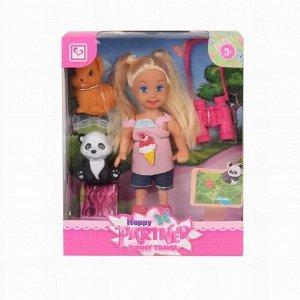 Кукла малышка 899-93K с питомцами в кор.
