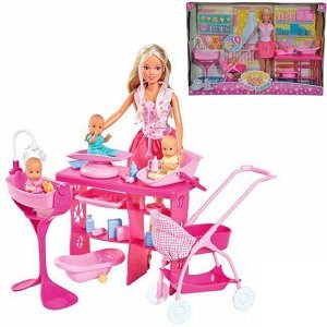 Штеффи Кукла с 3 малышами 29 см 5733212029