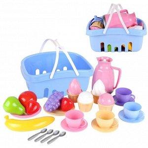 Набор посуды в корзине Т7242 Технок
