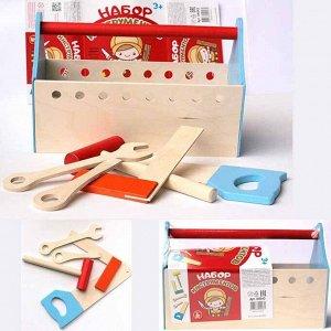 Набор инструментов ( молоток , пила , ключ , отвертка , уголок ) 04043