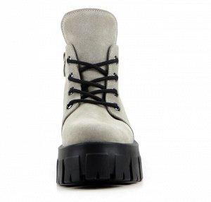НОВИНКА Ботинки натуральная кожа Серый