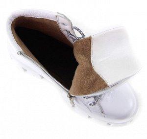 НОВИНКА Ботинки натуральная кожа Белый