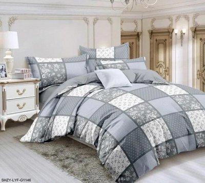 Яркие и красочные комплекты постельного белья — КПБ 2 с евро. САТИН