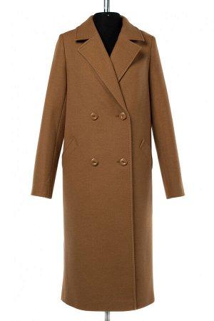 01-10271 Пальто женское демисезонное Пальтовая ткань Кэмел