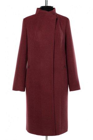 01-10277 Пальто женское демисезонное Пальтовая ткань сухая малина