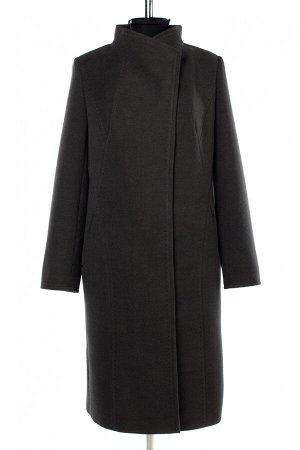 01-10276 Пальто женское демисезонное Пальтовая ткань серый