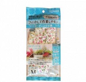 Перчатки трикотажные для садовых работ TOWA, разноцветные с каучуковым покрытием (М)