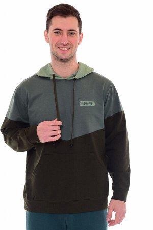 Толстовка мужская 9-145а (зеленый)