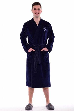 Халат мужской 9-119д (темно-синий)