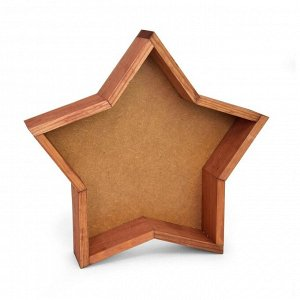 Ящик дерево Звезда средняя 29,5х29,5хH6см, орех
