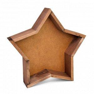 Ящик дерево Звезда средняя 29,5х29,5хH6см, палисандр