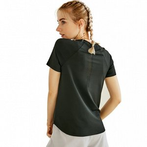 Женская спортивная футболка, цвет черный