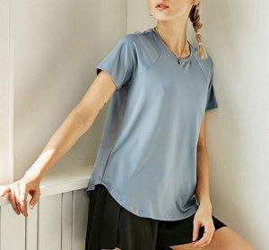 Женская спортивная футболка, цвет голубой
