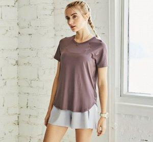 Женская спортивная футболка, цвет фиолетовый