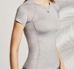 Женская спортивная футболка, цвет серый