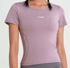 """Женская спортивная футболка, надпись""""onetwopunch"""", цвет розовый"""