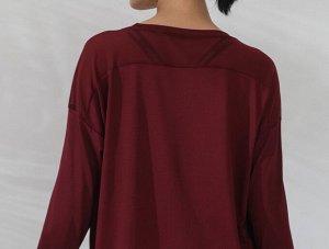 Женская спортивная кофта с сетчатой вставкой, цвет красный