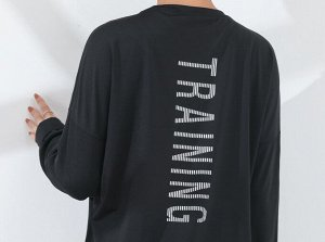 """Женская спортивная кофта, надпись""""training"""", цвет черный"""
