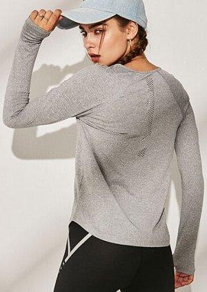 Женская спортивная кофта, цвет серый