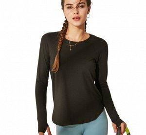 Женская спортивная кофта, цвет черный