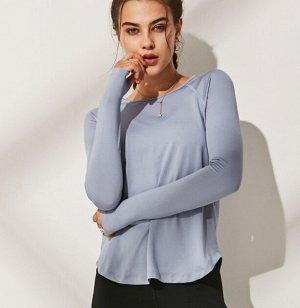 Женская спортивная кофта, цвет голубой
