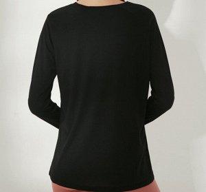 """Женская спортивная кофта с разрезом, надпись""""onetwopunch"""", цвет черный"""