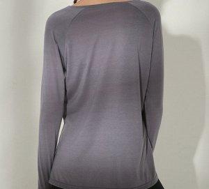 """Женская спортивная кофта с разрезом, надпись""""onetwopunch"""", цвет серый"""