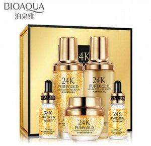Bioaqua Набор для ухода за лицом 24K PureGold Skin Care