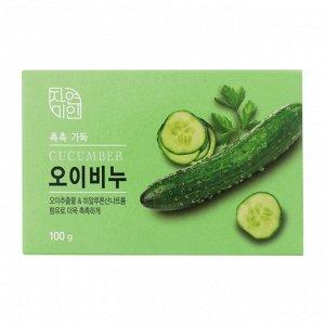 """Увлажняющее косметическое мыло с экстрактом огурца """"Moisture Cucumber Soap"""" 100 гр"""