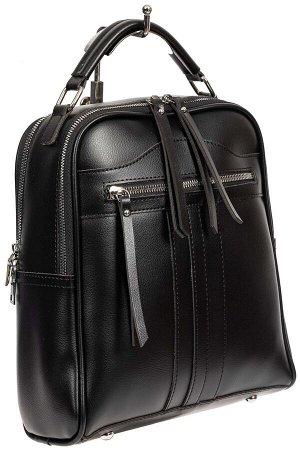 Рюкзак женский из искусственной кожи, цвет чёрный