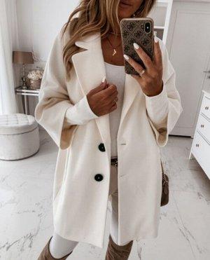 Пальто, белый