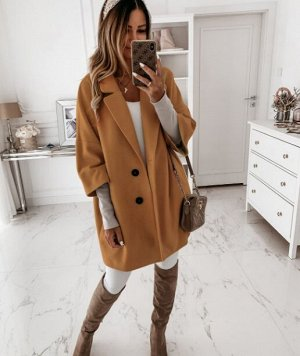 Пальто, коричневый