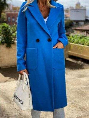 Пальто, синий