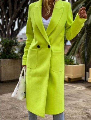 Пальто, желтый
