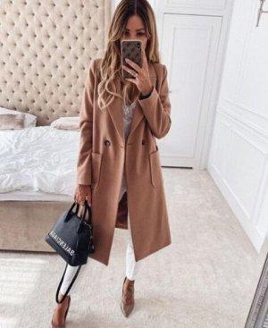 Пальто, песочный