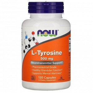 L-тирозин Now Foods, L-тирозин (L-Tyrosine), 500 мг, 120 капсул. Отзыв: пью курсами. вещь незаменимая для меня. со всем справляется - с подавленным настроением, ленью, депрессией, никакого побочного э