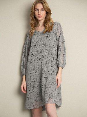 Шифоновое платье с принтом PL1070/grant