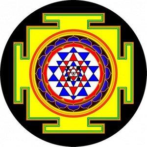 Подставка под благовония «Шри янтра», d=6 см, ХДФ