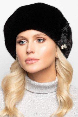 Шапка Базовый зимний женский норковый берет. Такая зимняя шапка идеально подойдёт женщинам со средним и крупным лицом. Благодаря классической форме такой зимний головной убор будет идеально сочетаться
