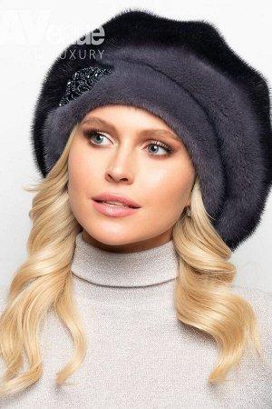 Шапка Размер 56-58  Базовый зимний объёмный норковый берет на ножке. Такая зимняя шапка идеально подойдёт женщинам со средним и крупным лицом. Благодаря классической форме этот зимний головной убор бу