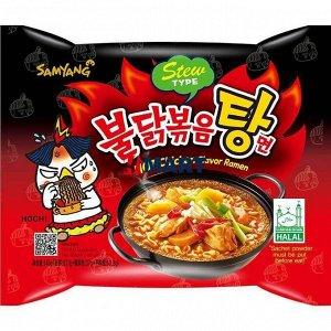 Лапша со вкусом острой курицы Hot chicken flavor ramen 145г