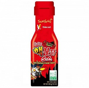 Соус Samyang со вкусом курицы, очень острый (Extremely Spicy Hot Chicken Flavour Sauce), 200 г