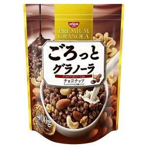 Мюсли  Nissin Cisco с шоколадом и орехами 400 гр.1/6  пакет (Япония) СРОК ГОДНОСТИ ДО 01.06.2021
