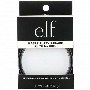 E.L.F., Matte Putty Primer, Universal Sheer, 0.74 oz (21 g)