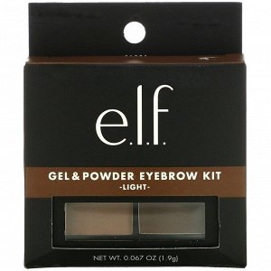 E.L.F., Eyebrow Kit, Gel & Powder, Light, 0.067 oz (1.9 g)
