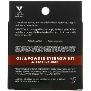 E.L.F., Eyebrow Kit, Gel & Powder, Medium, Gel 0.045 oz (1.3 g) - Powder 0.063 oz (1.8 g)