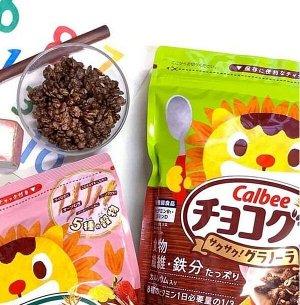 """Мюсли шоколадные  """"Calbee""""  300 гр. 1/8 пакет   (Япония) СРОК ГОДНОСТИ ДО 04.06.2021"""