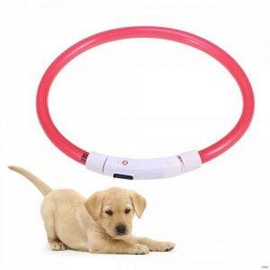 Светящийся ошейник USB Rechargeable Flashing Collar оптом