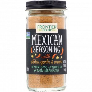 Frontier Natural Products, Mexican Seasoning, With Chilis, Garlic & Onion, 2.00 oz (56 g)
